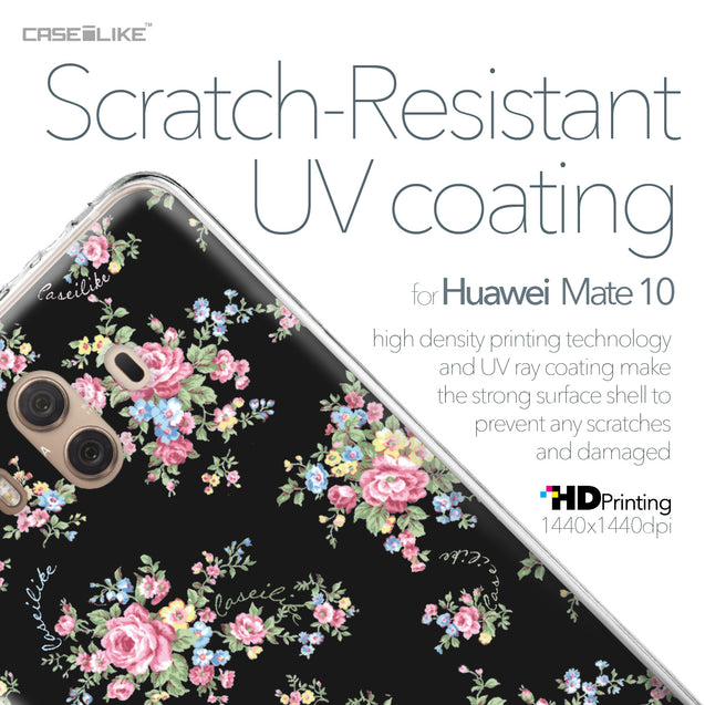 Huawei Mate 10 case Floral Rose Classic 2261 with UV-Coating Scratch-Resistant Case | CASEiLIKE.com
