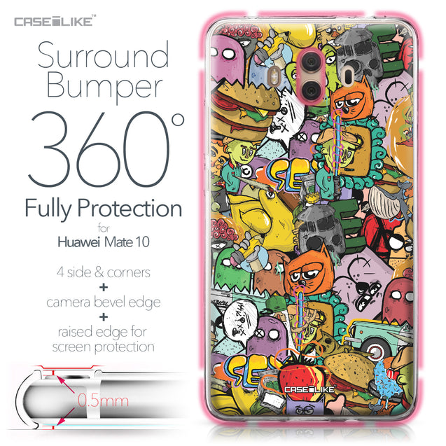 Huawei Mate 10 case Graffiti 2731 Bumper Case Protection | CASEiLIKE.com