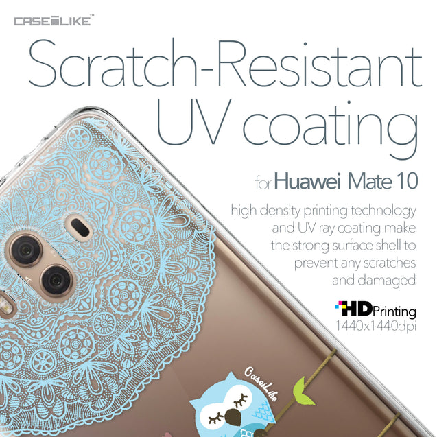 Huawei Mate 10 case Owl Graphic Design 3318 with UV-Coating Scratch-Resistant Case | CASEiLIKE.com