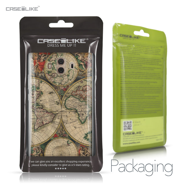 Huawei Mate 10 case World Map Vintage 4607 Retail Packaging | CASEiLIKE.com