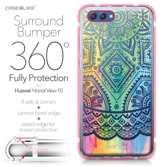 Huawei Honor View 10 case Indian Line Art 2064 Bumper Case Protection | CASEiLIKE.com