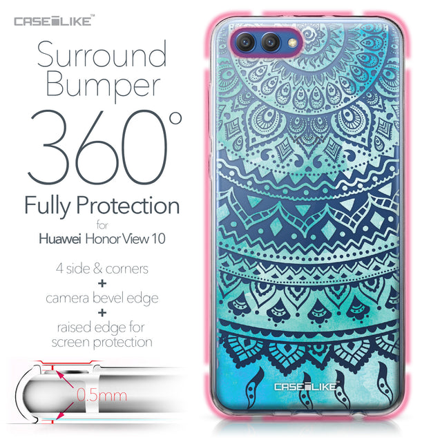 Huawei Honor View 10 case Indian Line Art 2066 Bumper Case Protection | CASEiLIKE.com