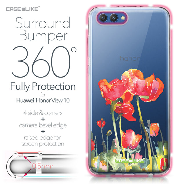 Huawei Honor View 10 case Watercolor Floral 2230 Bumper Case Protection | CASEiLIKE.com