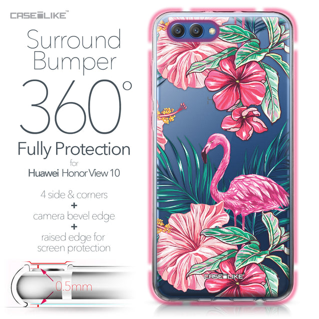 Huawei Honor View 10 case Tropical Flamingo 2239 Bumper Case Protection | CASEiLIKE.com