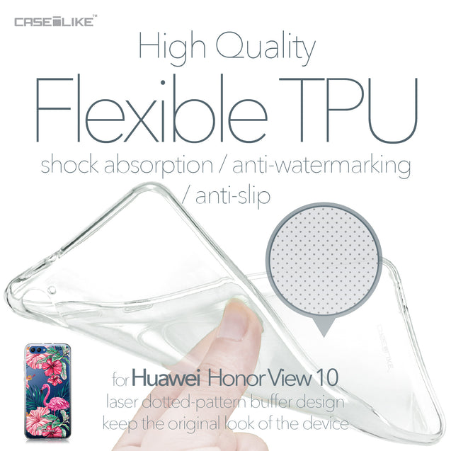 Huawei Honor View 10 case Tropical Flamingo 2239 Soft Gel Silicone Case | CASEiLIKE.com
