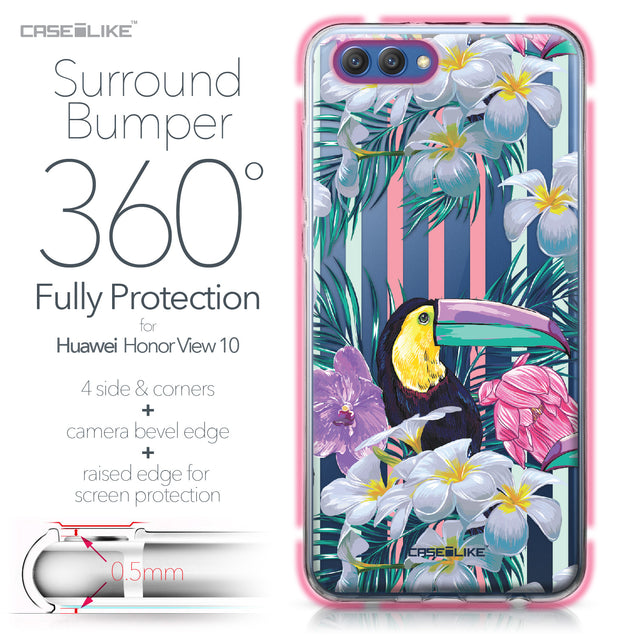 Huawei Honor View 10 case Tropical Floral 2240 Bumper Case Protection | CASEiLIKE.com