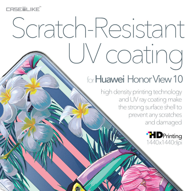 Huawei Honor View 10 case Tropical Floral 2240 with UV-Coating Scratch-Resistant Case | CASEiLIKE.com