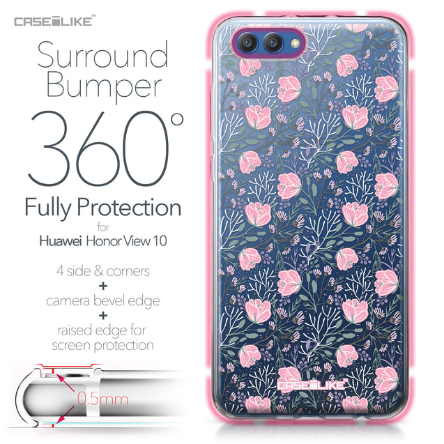 Huawei Honor View 10 case Flowers Herbs 2246 Bumper Case Protection | CASEiLIKE.com