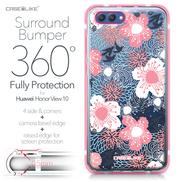 Huawei Honor View 10 case Japanese Floral 2255 Bumper Case Protection | CASEiLIKE.com