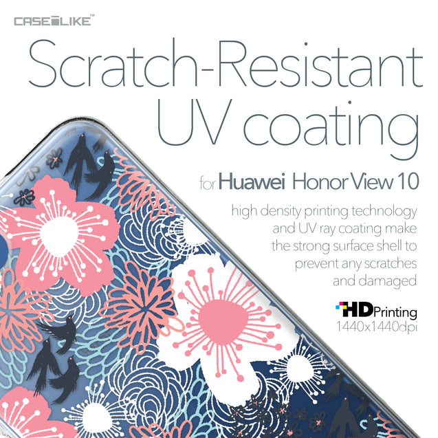 Huawei Honor View 10 case Japanese Floral 2255 with UV-Coating Scratch-Resistant Case | CASEiLIKE.com
