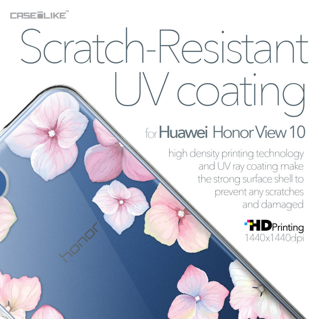 Huawei Honor View 10 case Hydrangea 2257 with UV-Coating Scratch-Resistant Case | CASEiLIKE.com