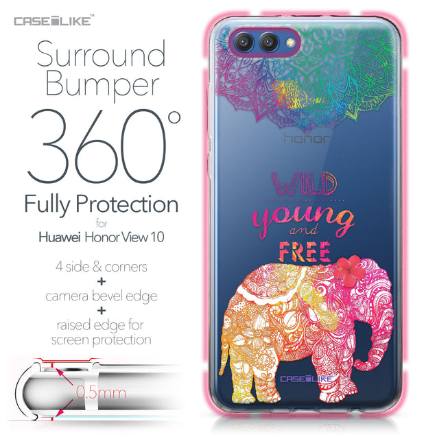 Huawei Honor View 10 case Mandala Art 2302 Bumper Case Protection | CASEiLIKE.com