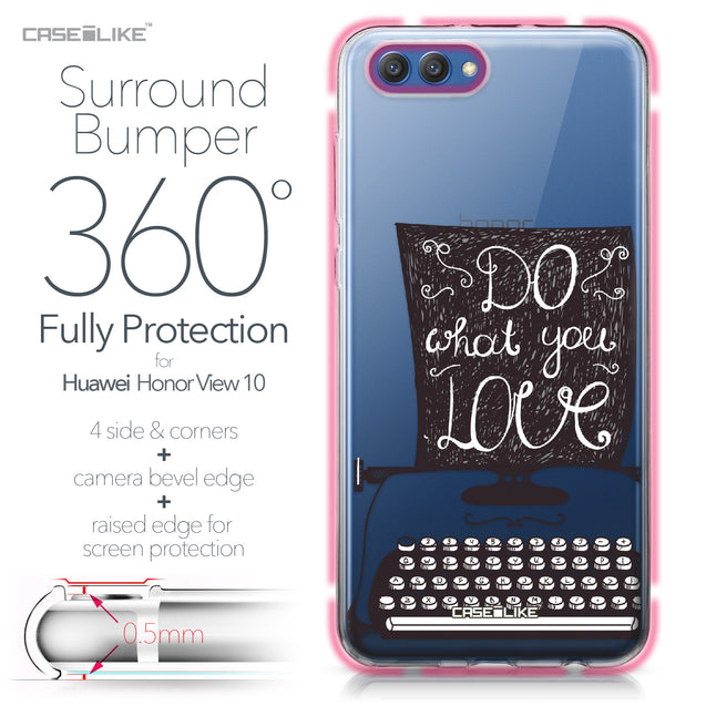 Huawei Honor View 10 case Quote 2400 Bumper Case Protection | CASEiLIKE.com