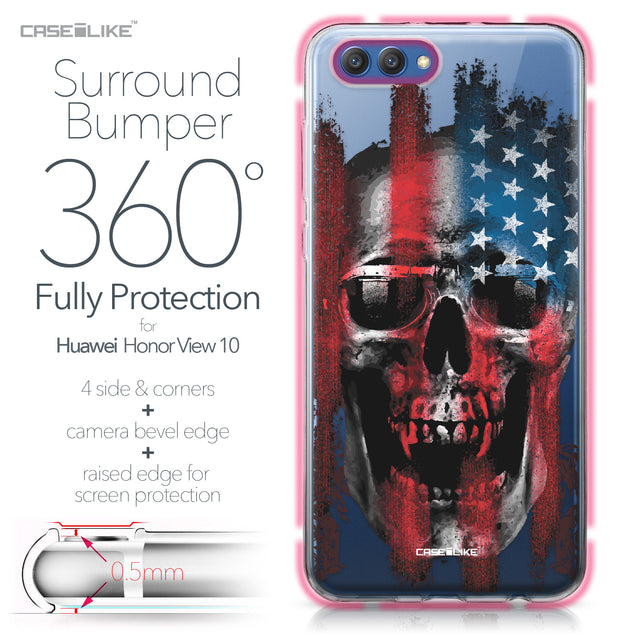 Huawei Honor View 10 case Art of Skull 2532 Bumper Case Protection | CASEiLIKE.com