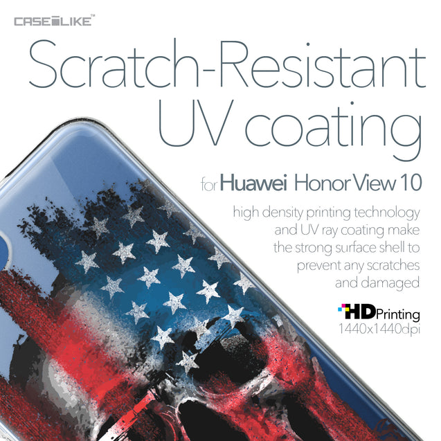 Huawei Honor View 10 case Art of Skull 2532 with UV-Coating Scratch-Resistant Case | CASEiLIKE.com
