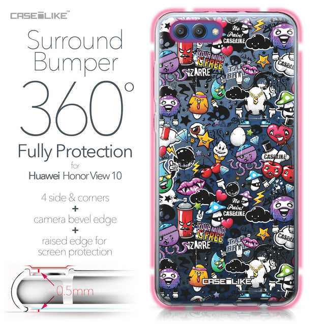 Huawei Honor View 10 case Graffiti 2703 Bumper Case Protection | CASEiLIKE.com