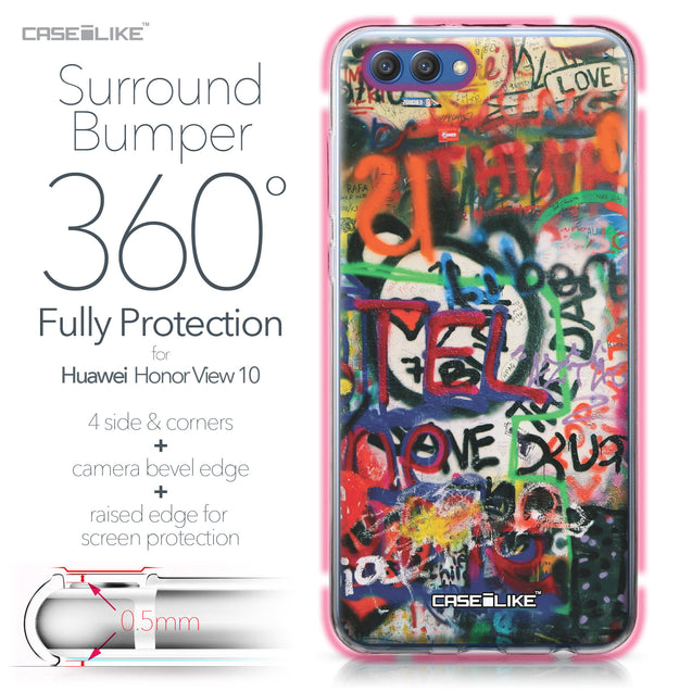 Huawei Honor View 10 case Graffiti 2721 Bumper Case Protection | CASEiLIKE.com