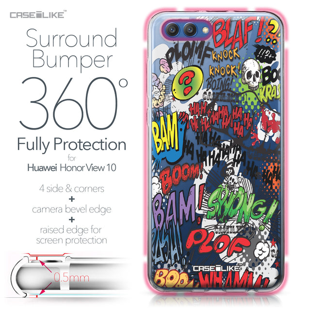 Huawei Honor View 10 case Comic Captions 2914 Bumper Case Protection | CASEiLIKE.com