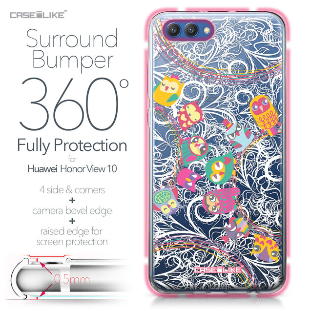 Huawei Honor View 10 case Owl Graphic Design 3316 Bumper Case Protection | CASEiLIKE.com