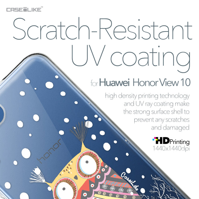 Huawei Honor View 10 case Owl Graphic Design 3317 with UV-Coating Scratch-Resistant Case | CASEiLIKE.com