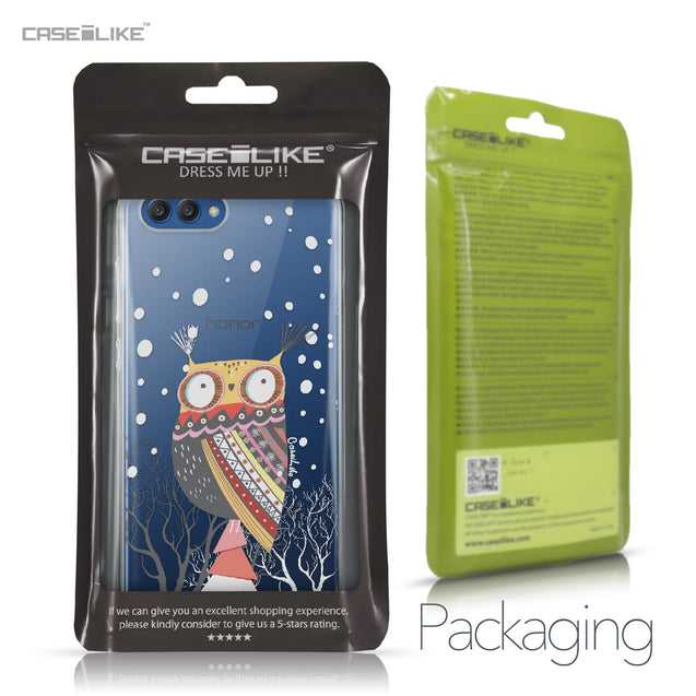 Huawei Honor View 10 case Owl Graphic Design 3317 Retail Packaging | CASEiLIKE.com