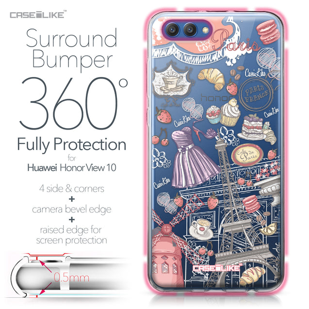 Huawei Honor View 10 case Paris Holiday 3907 Bumper Case Protection | CASEiLIKE.com