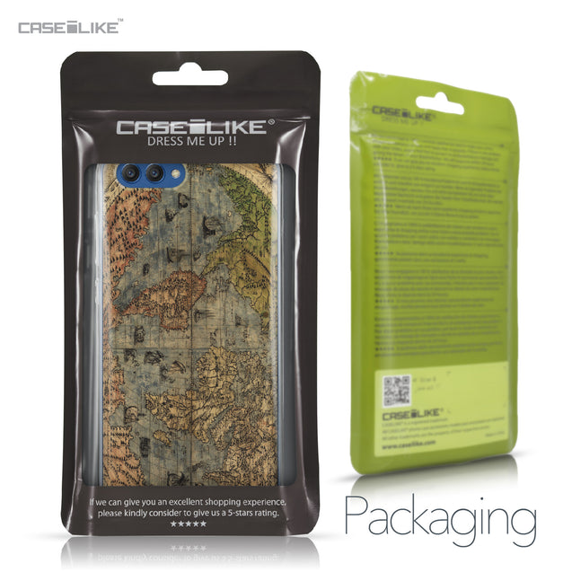 Huawei Honor View 10 case World Map Vintage 4608 Retail Packaging | CASEiLIKE.com