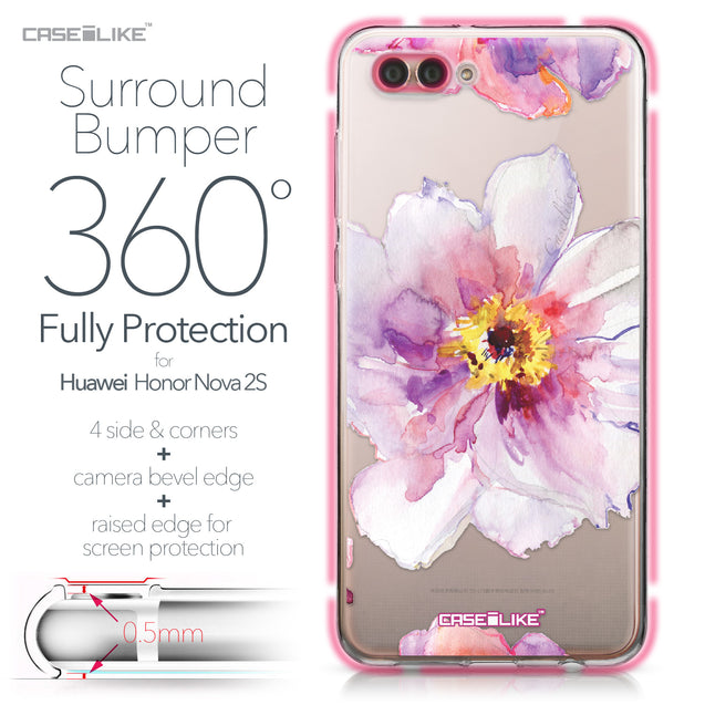 Huawei Nova 2S case Watercolor Floral 2231 Bumper Case Protection | CASEiLIKE.com