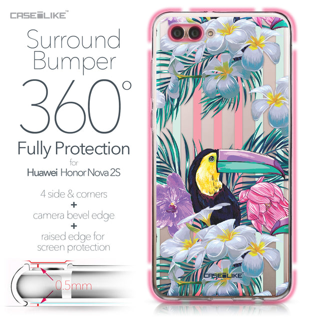 Huawei Nova 2S case Tropical Floral 2240 Bumper Case Protection | CASEiLIKE.com