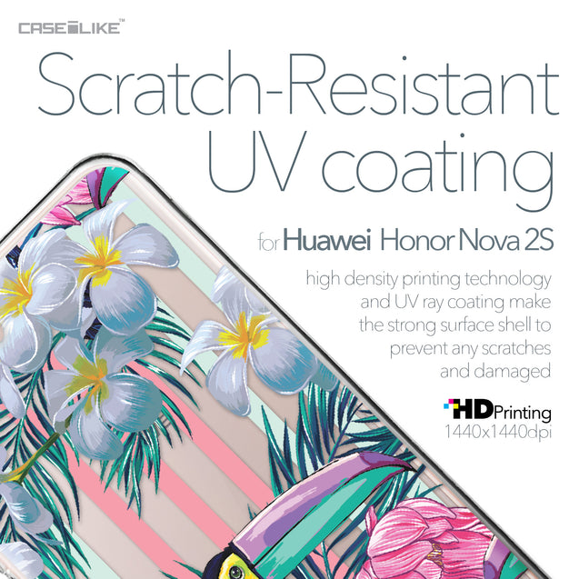 Huawei Nova 2S case Tropical Floral 2240 with UV-Coating Scratch-Resistant Case | CASEiLIKE.com
