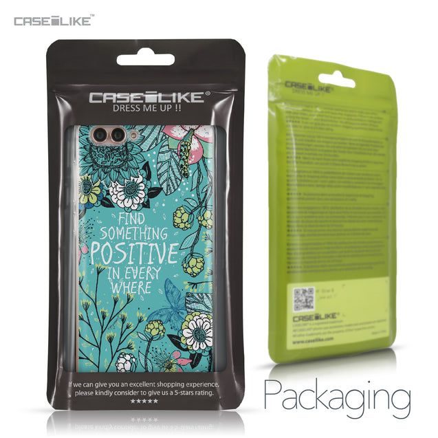 Huawei Nova 2S case Blooming Flowers Turquoise 2249 Retail Packaging | CASEiLIKE.com