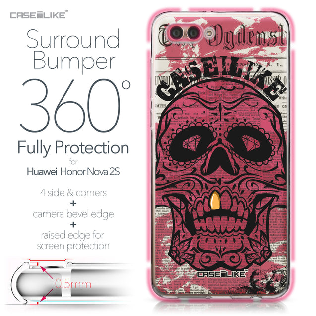 Huawei Nova 2S case Art of Skull 2523 Bumper Case Protection | CASEiLIKE.com