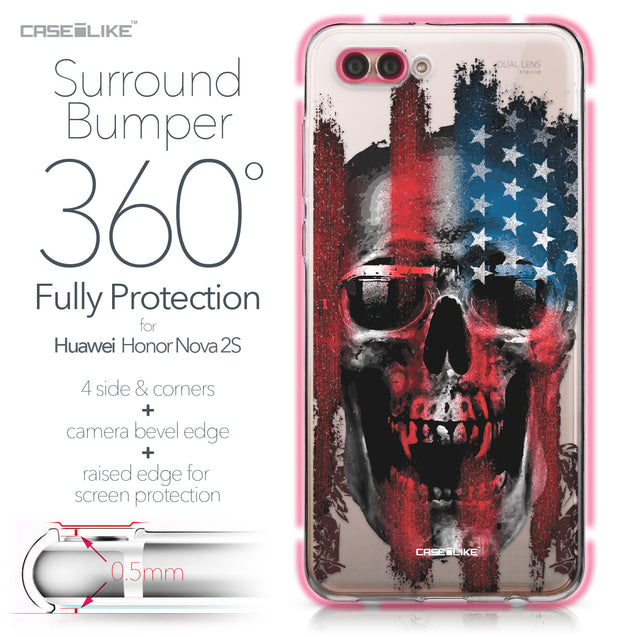 Huawei Nova 2S case Art of Skull 2532 Bumper Case Protection | CASEiLIKE.com