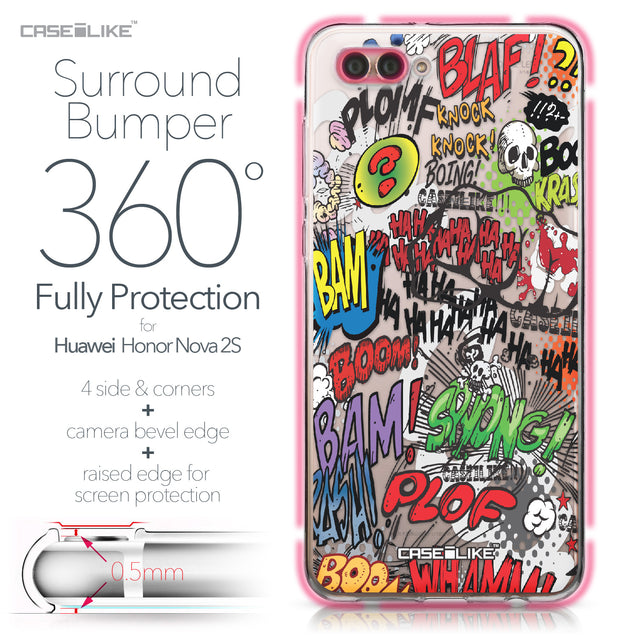Huawei Nova 2S case Comic Captions 2914 Bumper Case Protection | CASEiLIKE.com