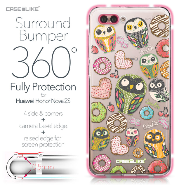 Huawei Nova 2S case Owl Graphic Design 3315 Bumper Case Protection | CASEiLIKE.com