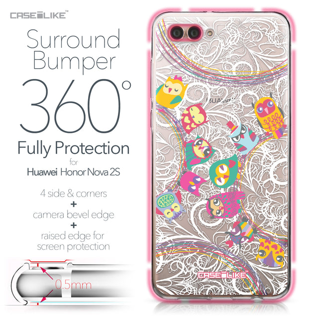 Huawei Nova 2S case Owl Graphic Design 3316 Bumper Case Protection | CASEiLIKE.com