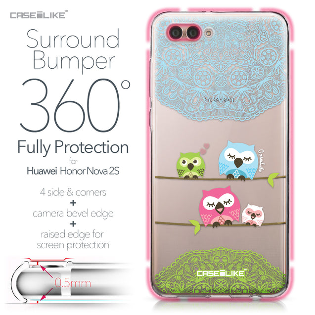 Huawei Nova 2S case Owl Graphic Design 3318 Bumper Case Protection | CASEiLIKE.com