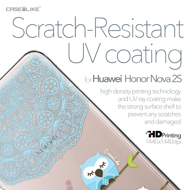 Huawei Nova 2S case Owl Graphic Design 3318 with UV-Coating Scratch-Resistant Case | CASEiLIKE.com