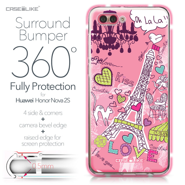 Huawei Nova 2S case Paris Holiday 3905 Bumper Case Protection | CASEiLIKE.com