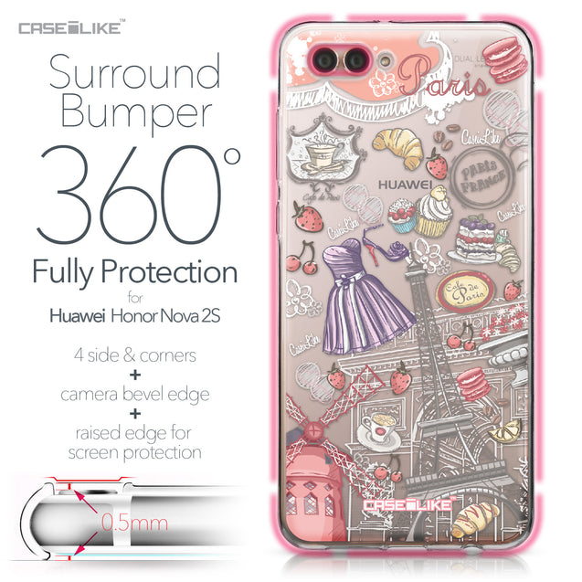 Huawei Nova 2S case Paris Holiday 3907 Bumper Case Protection | CASEiLIKE.com