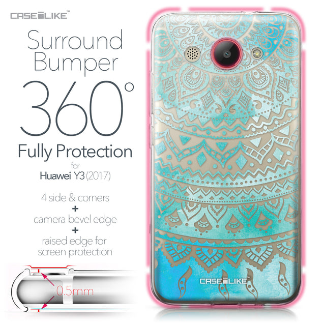 Huawei Y3 2017 case Indian Line Art 2066 Bumper Case Protection | CASEiLIKE.com