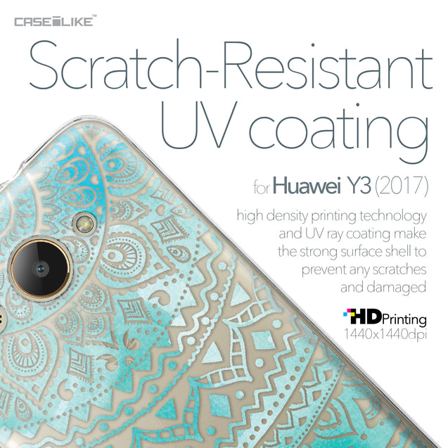 Huawei Y3 2017 case Indian Line Art 2066 with UV-Coating Scratch-Resistant Case | CASEiLIKE.com
