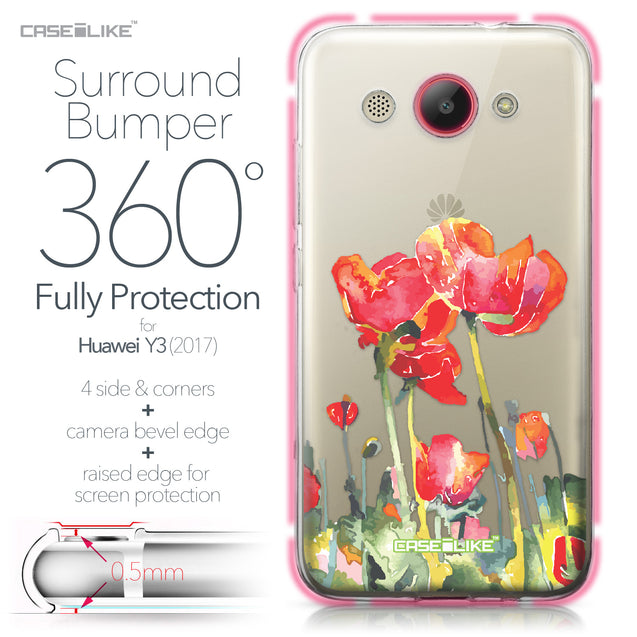 Huawei Y3 2017 case Watercolor Floral 2230 Bumper Case Protection | CASEiLIKE.com