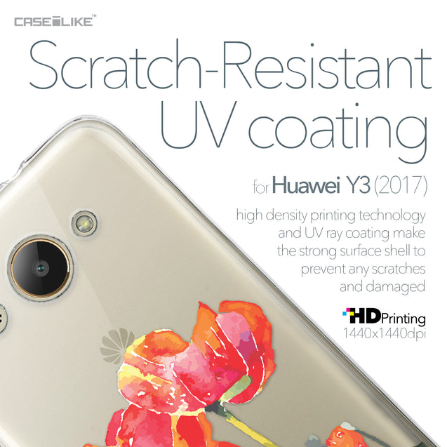 Huawei Y3 2017 case Watercolor Floral 2230 with UV-Coating Scratch-Resistant Case | CASEiLIKE.com