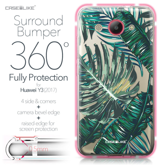 Huawei Y3 2017 case Tropical Palm Tree 2238 Bumper Case Protection | CASEiLIKE.com