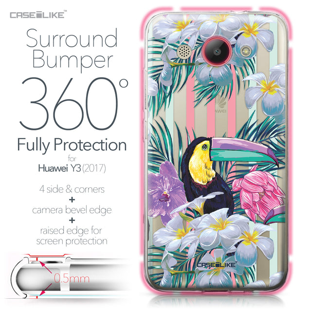 Huawei Y3 2017 case Tropical Floral 2240 Bumper Case Protection | CASEiLIKE.com