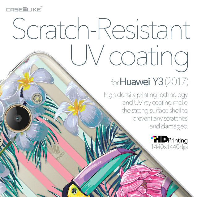 Huawei Y3 2017 case Tropical Floral 2240 with UV-Coating Scratch-Resistant Case | CASEiLIKE.com