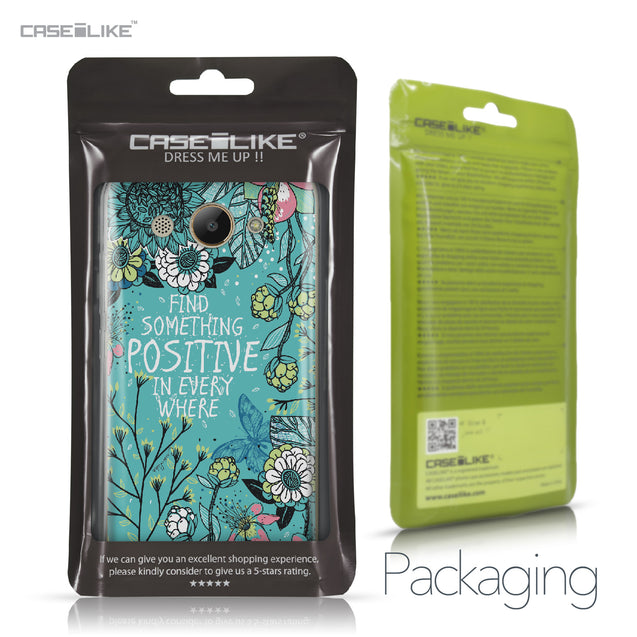 Huawei Y3 2017 case Blooming Flowers Turquoise 2249 Retail Packaging | CASEiLIKE.com