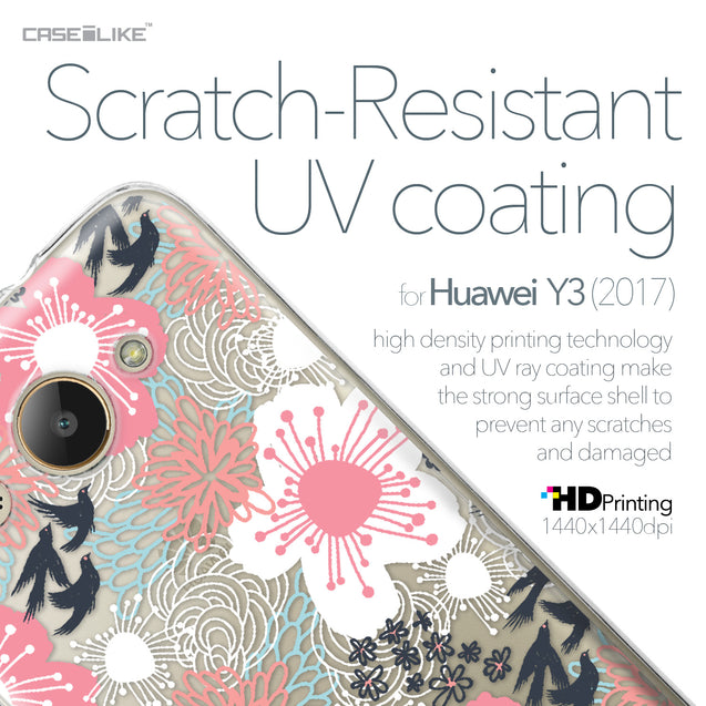 Huawei Y3 2017 case Japanese Floral 2255 with UV-Coating Scratch-Resistant Case | CASEiLIKE.com