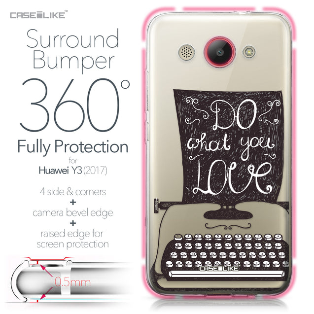 Huawei Y3 2017 case Quote 2400 Bumper Case Protection | CASEiLIKE.com
